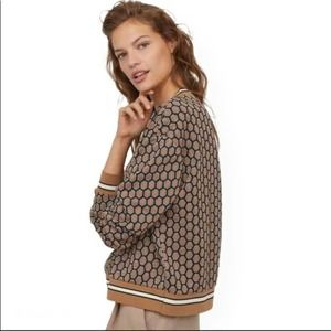 GP & J Baker for H&M tan Honeycomb Pattern Sweater